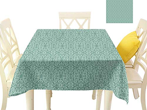 firee Fabric Dust-Proof Table Cover Vintage Style Victorian Garden Pattern Antique Design Old Fashion Ornaments W36 x L36, Waterproof/Oil-Proof/Spill-Proof Tabletop ()