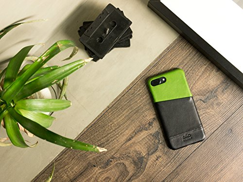 alto Handmade Premium Italian Leather Wallet Case for Apple iPhone 8 Plus / iPhone 7 Plus Metro (Lemon/Raven) by Alto (Image #9)