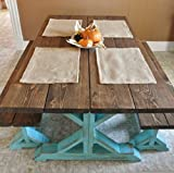 Set of 6- Burlap Placemats- Double Sided/Reversible