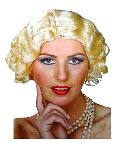 Flapper Blonde Wig Roaring 20'S Flirting Wave Curl Short Style Costume (Las Vegas Showgirl Outfits)