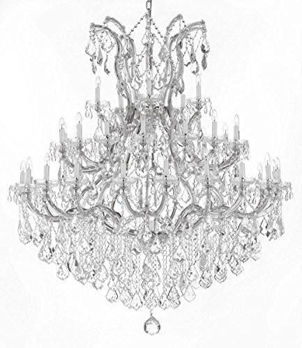 Swarovski Crystal Trimmed Chandelier! Large Foyer/Entryway Maria Theresa Crystal Chandelier Chandeliers Lighting! H 60″ W 52″ For Sale