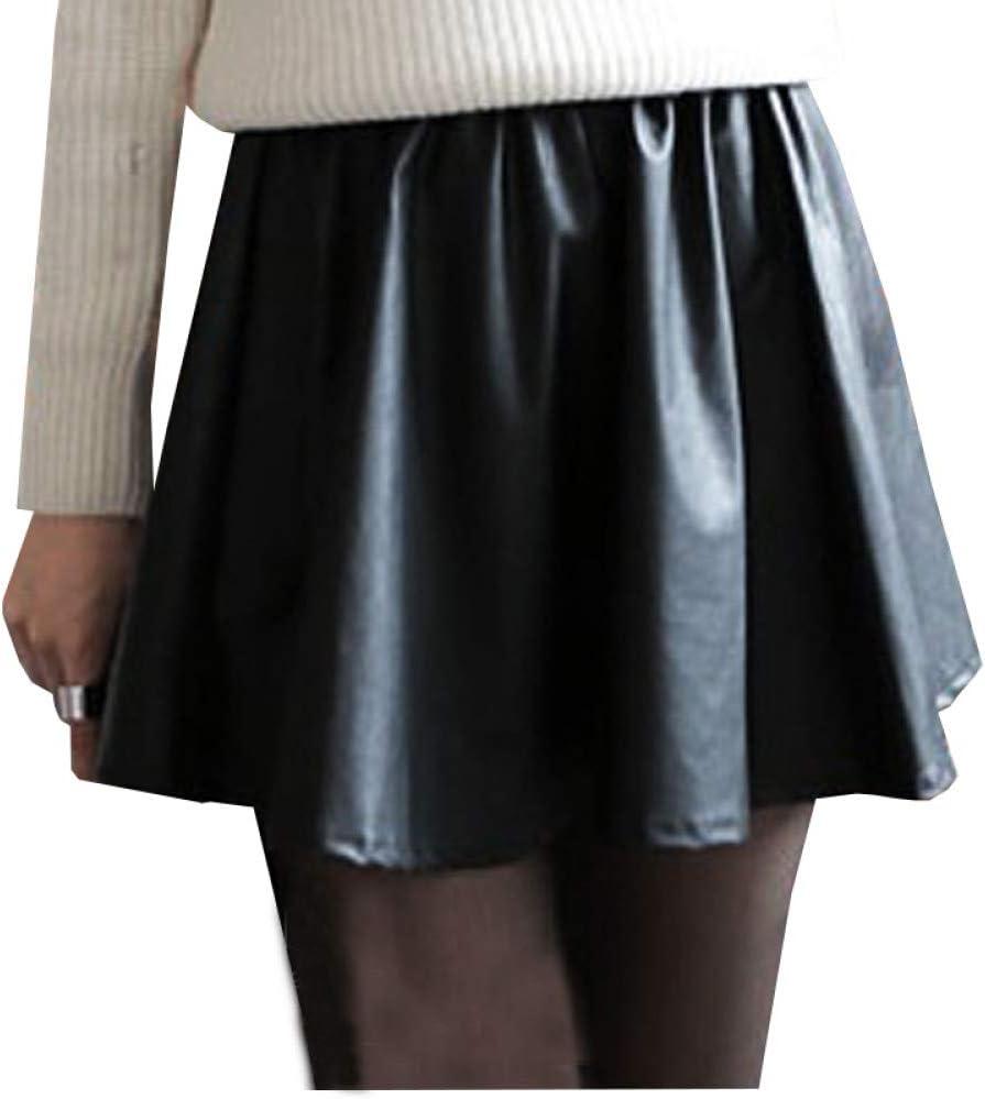 DAHDXD Estilo de otoño Casual Faldas Plisadas de Cintura Alta ...