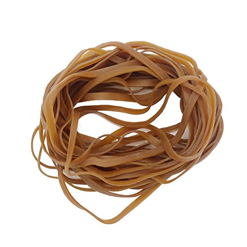 HRX Package Large Rubber Bands, 100 PCS Super Size Heavy Duty Industrial Elastic Rubber Bands for Trash Can, Office Supply/File(L7.87 x W0.24 x THK0.08 inches)