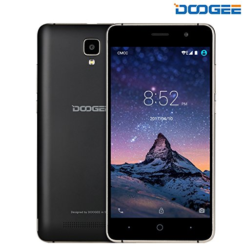 Unlocked Cell Phones, DOOGEE X10 Smartphone Unlocked Android 6.0-5.0 Inch IPS Display - 3360mAh Battery - 8GB ROM - 5MP Camera - 3G Unlocked Phones - - Gsm Phone 2g
