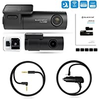 BlackVue Dashcam DR590W-2CH 16GB Front and Rear View Starvis SONY Sensor with Snap N Go DIY Parking Mode Installation Kit Battery Drain Protection 3 Recording Modes for Car Black Box 2018 Free Decal