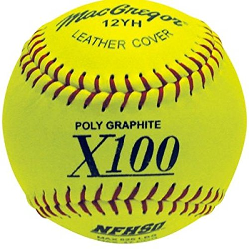 MacGregor NFHS Fast Pitch Softball, 12-inch (One Dozen) (Macgregor Leather)
