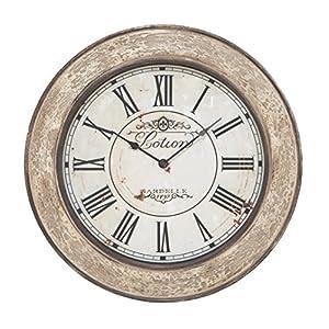 "Deco 79 53818 Wood Wall Clock, 24"""