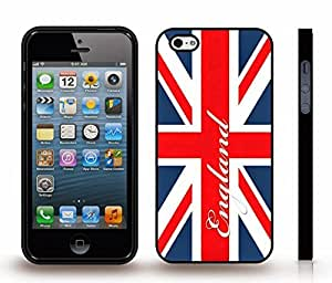 iStar Cases? iPhone 5/5S Case with UK Flag Union Jack Cracked Design , Snap-on Cover, Hard Carrying Case (White)