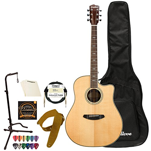 Breedlove Stage Dreadnought CE Sitka Spruce-Mahogany Acoustic-Electric Guitar with Accessories -  SGDR01CESSMA-KIT-2