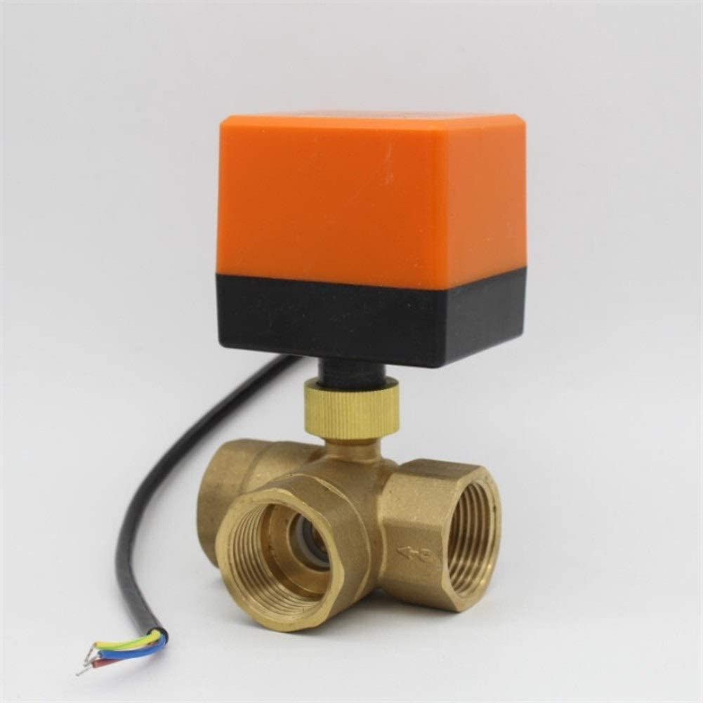 Specification : DN32, Voltage : DC12V, Wiring Control : CN02 DN15 DN20 DN25 DN32 3 way motorized ball valve electric ball valve brass bal valve AC220V AC24V DC12V DC24V plubing valve drive Inlet