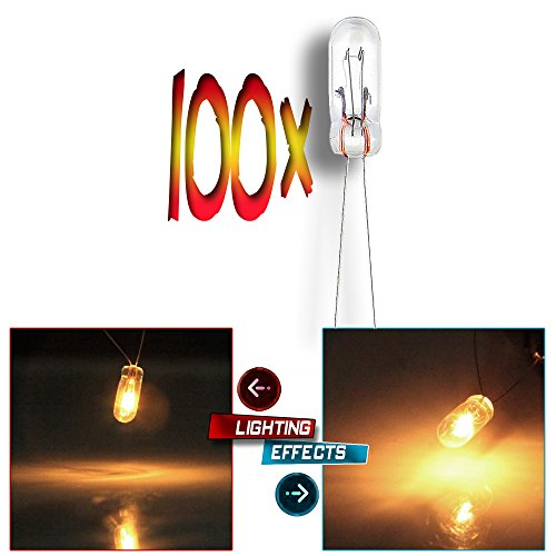 CCIYU 100 Pack Amber Mini Bulbs Lamps For GM Speedometer Cluster Backlight Lighting 12V-14V 95mA 100 Amber Mini