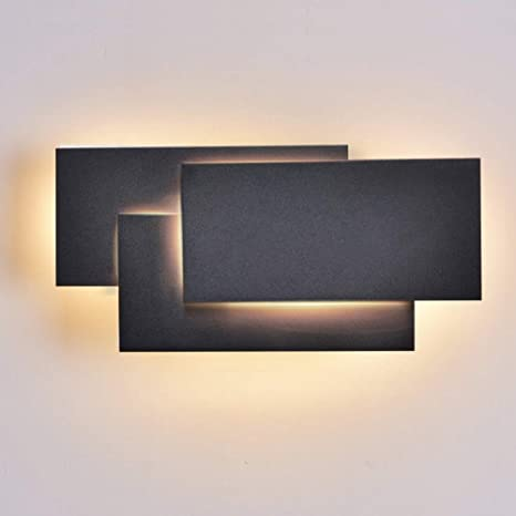 Ralbay Modern Wall Sconces LED Lighting Fixture Lamps 12W Warm White 3000K  Living Room Bedroom Hallway Conservatory Not Dimmable