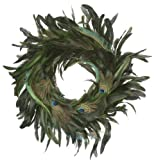 Zucker Feather Products Rooster Schlappen with Peacock Eye and Sword Wreath, 18-Inch