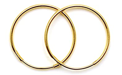 Arranview Jewellery 9ct yellow gold 12mm plain sleeper hoops (1 Pair) lNrggtA