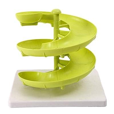 CreazyBee Egg Spiral Rack Storage Dispenser Fruit Holder Design Kitchen Accessory Display (Green) : Sports & Outdoors