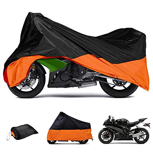 Motorcycle Cover , INNOGLOW Motorbike All Season Dust UV Resistent Motorcycle Cover for Yamaha Harley Kawasaki BMW,Fits up to 104