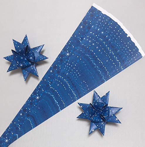 Froebel Moravian Star Strip Weaving Papers~ Cobalt Blue 5//8 inch