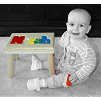 Personalized Wooden Childrens Name Stool