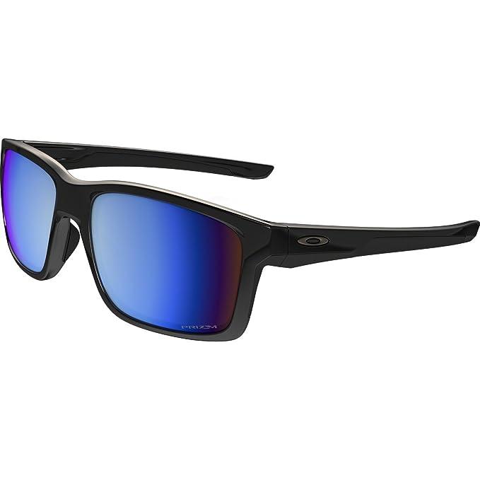 4b76c8c9bd Oakley Mainlink, Gafas de sol, Rectangulares, Polarizadas, 57, Negro y  azul: Amazon.es: Ropa y accesorios
