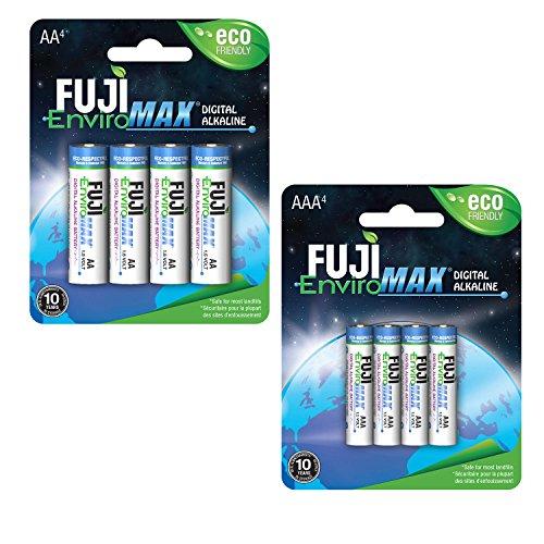 Fuji EnviroMAX Super Digital Alkaline Eco Friendly Batteries (Pack of 96, set: 48 AA + 48 AAA)
