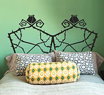 Headboard Wall Decal Double Full Size Nightmare Before Christmas Grid Wire Wall  Sticker Home Art Decals
