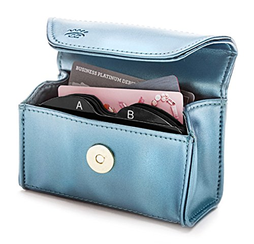CARD CUBBY Wallet Organizer - TEAL SHIMMER (Card Shimmer)