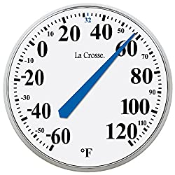 LaCrosse 104-114 Round Thermometer, 13.5