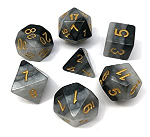 Hengda dice DND Dice Polyhedral Dice Sets for D&D Dungeons & Dragons MTG Role Playing Game Dice including Velvet Bags