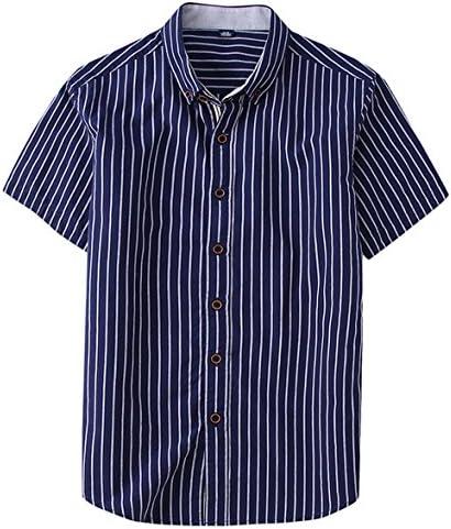 メンズ シャツ ボーダー 半袖 ワイシャツ yシャツ ストライプ ビジネス カジュアル 純綿 ライトブルー グレー ネイビー ブラック 4色