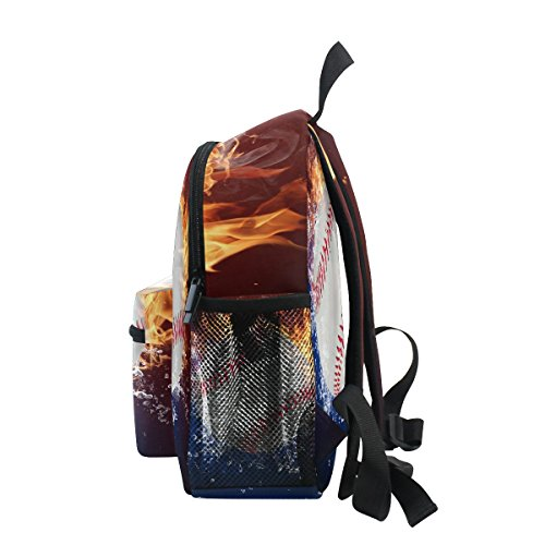 Kindergarten Girls Baseball Pre Kids Boy ZZKKO for School Toddler Bag Backpack Water Fire qwAxFzZ
