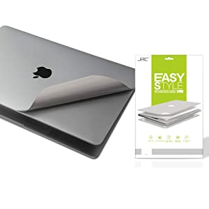 Premium 5-in-1 Full Body Skin Decals and Screen Protector for MacBook Pro 15 inch With Touch Bar( Model Number: A1707/A1990, 2016/2017/2018), 3M Full-Cover Protector Vinyl Decal Skin--Gray