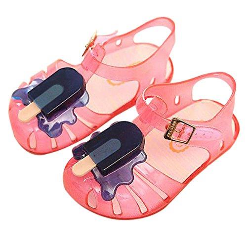 Meijunter Sommer Baby Mädchen Jungen Popsicles Eis Niedlich Gelee Anti-Rutsch Weich Flache Schuhe Kinder Strand Sandalen Regen Stiefel Pink