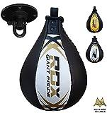 RDX Speed Ball Boxing Genuine Leather MMA Muay Thai Training Punching Dodge Striking Bag Kit...