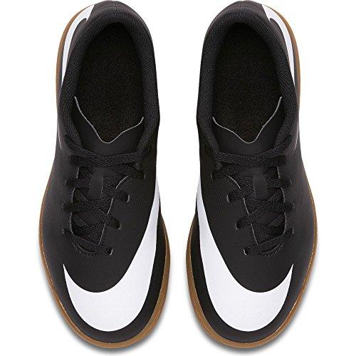 Nike–JR NIKE bravatax II IC Futsal, Unisex Kinder, schwarz–�?Black/white-black) Schwarz/weiß-schwarz