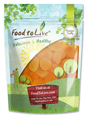 Albaricoques secos por Food to Live (Kosher, a granel) (4 Libras)