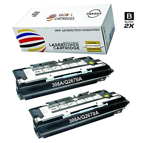 Global Cartridges Compatible Black Toner Cartridges for HP 308A / HP 309A / HP 311A / HP 3500 3700 Series/ Q2670A (2 X Black)