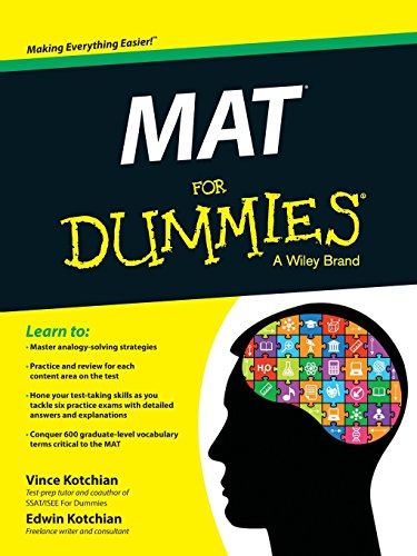 Pdf Test Preparation MAT For Dummies