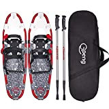 "Gpeng All Terrain Snowshoes Snow Shoes for Men Women Youth Kids,Lightweight Aluminum Alloy Snowshoes + Free Carrying Tote Bag 14""/21""/25""/27""/30"""