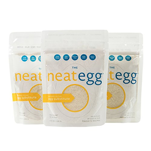 neat - Plant-Based - Egg Mix (4.5 oz.) (Pack of 3) - Non-GMO, Gluten-Free, Soy Free, Egg Substitute Mix