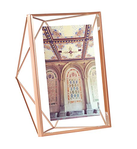 icture Frame – Floating Wall or Desk Photo Display for Pictures, Art, Illustrations, Graphic Text & More, Metal, Copper ()