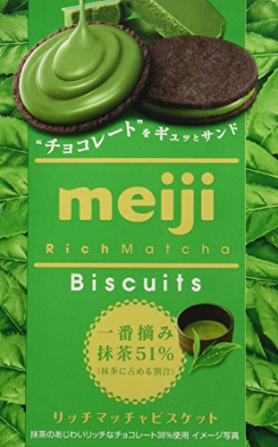 - Meiji Rich Matcha Biscuits 6pieces [Japan Import]