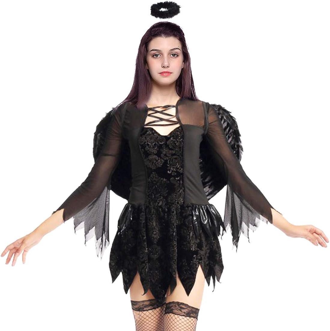 Brand New Dark Spooky Angel Tween Costume