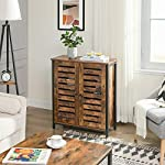 VASAGLE Standing Cabinet, Storage Cabinet, Cupboard, Accent Side Cabinet, Sideboard with Louvred Doors, Multifunctional…