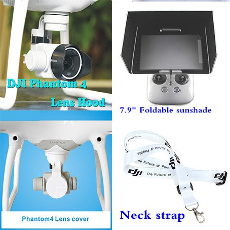 XSD MODEL Neck strap+Camera Lens Sun Hood Cover Cap+Lens Cap Camera Cover Protective Case+Remote Controller 7.9 Inch iPad mini Sunshade Sun Hood for DJI Phantom 4 Review