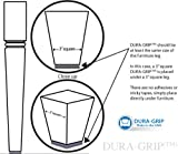 "DURA-GRIP Heavy Duty 4"" Square, 3/8"" Thick Non-Slip Rubber (No Glue or Nails) Furniture Floor Pads, Protectors-Set of 8"