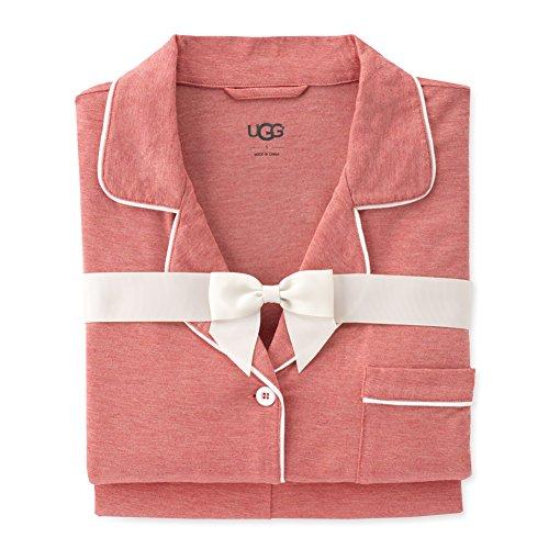 UGG Josephina Knit Pajama Shorts Set, S, Fire Opal