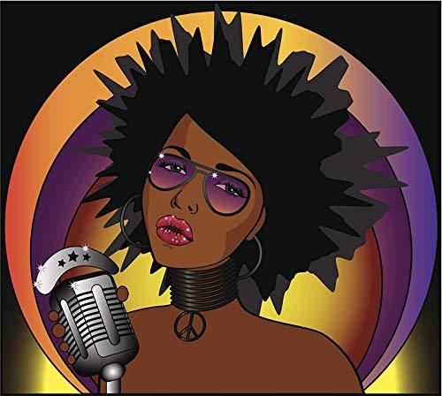 Morgan Graphics Cool Peace Hippie Singer Cartoon Icon (4
