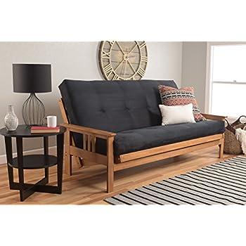 Amazon Com Michael Anthony Furniture Monterey Full Size Futon Sofa Bed Butternut Wood Frame