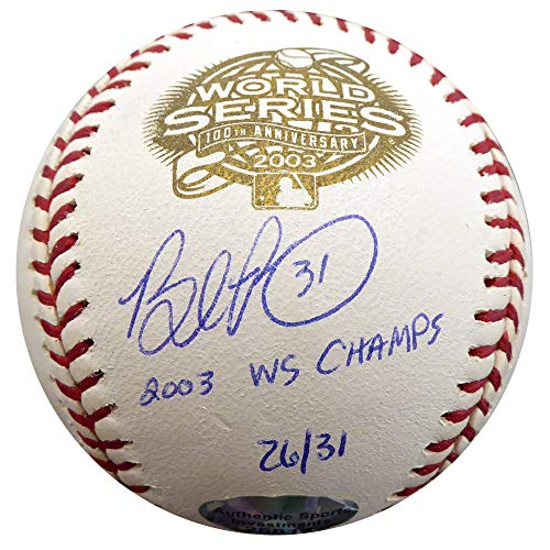 Brad Penny Autographed Official 2003 World Series Baseball Florida Marlins
