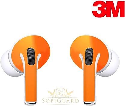 Sopiguard Skin For Apple Airpods Pro Earbuds Sticker Vinyl Wrap 3m Matte Black